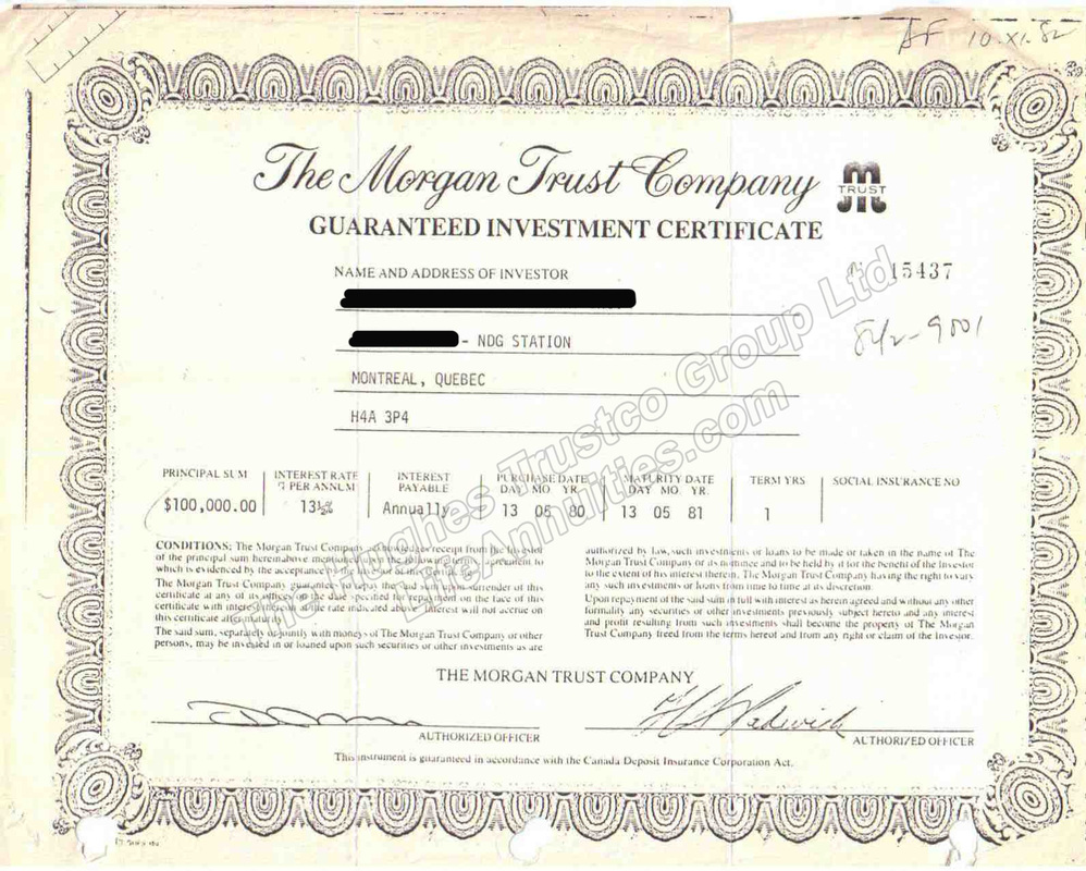 Gic guaranteed investment certificate or term deposits example of certificate yadclub Images